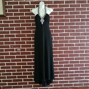 Betsy&Adam black long dress